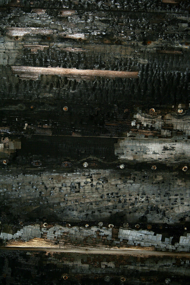 Burned Wall Section