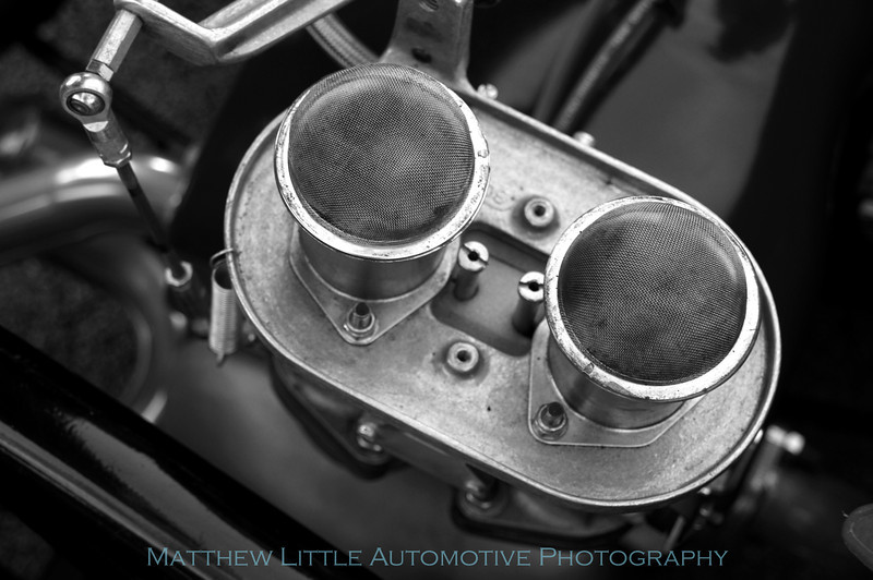 Engine detail shot of a superb Porsche 550 Spyder replica.