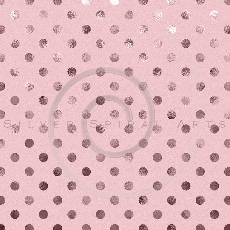 Bubblegum Pink Metallic Foil Polka Dot Pattern Swiss Dots Texture Paper Background