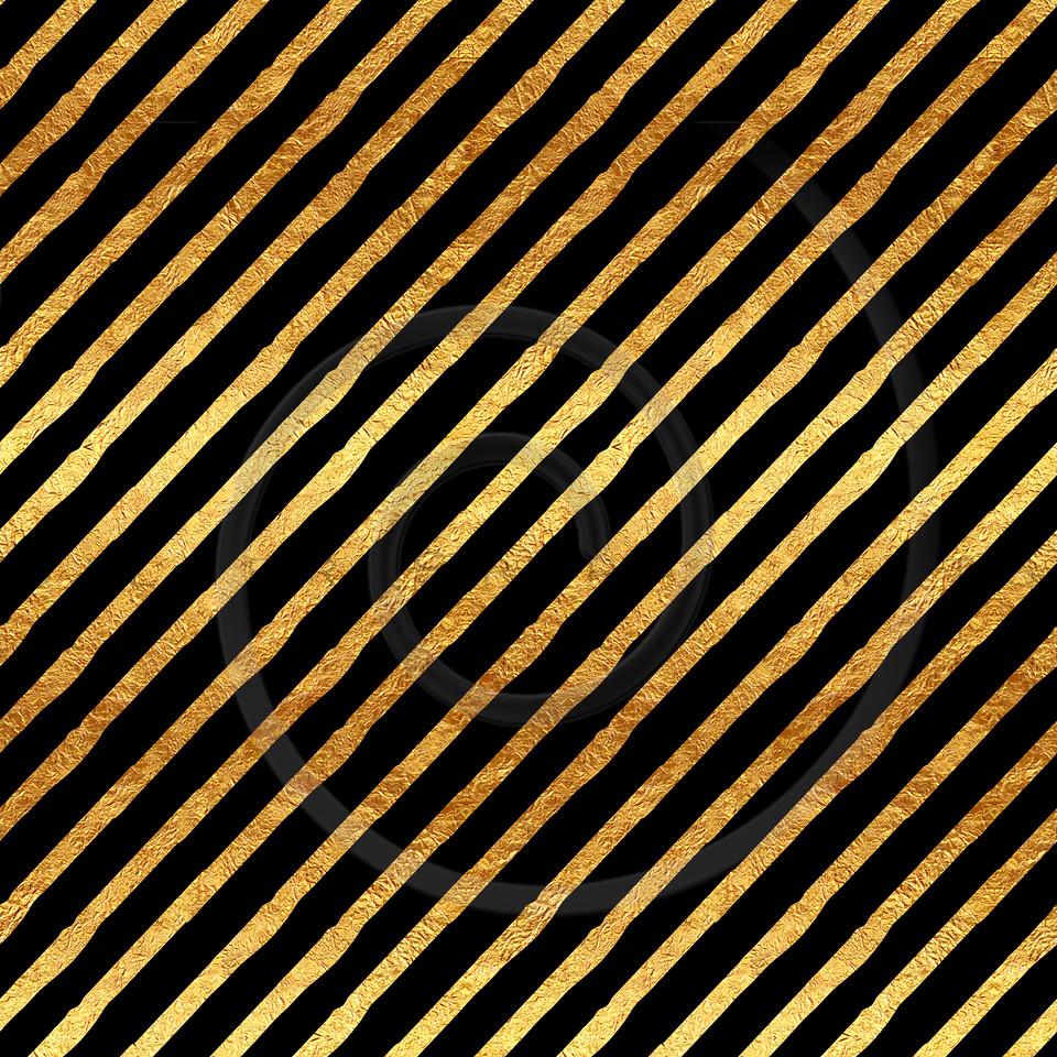 Gold Stripes Faux Foil Metallic Black Background Pattern