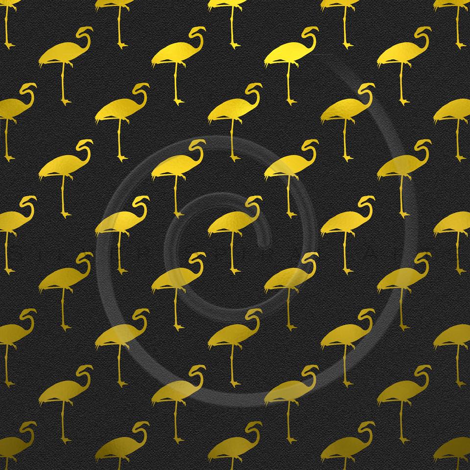 Black and Gold Flamingos Pattern Flamingo Faux Foil Metallic Polk Dots Background Texture