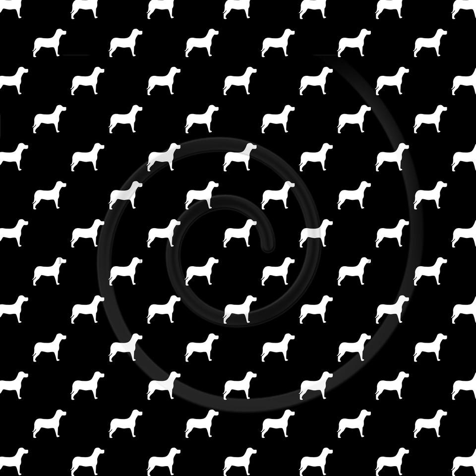 Black White Dogs Pattern Dog Polka Dots Background Texture