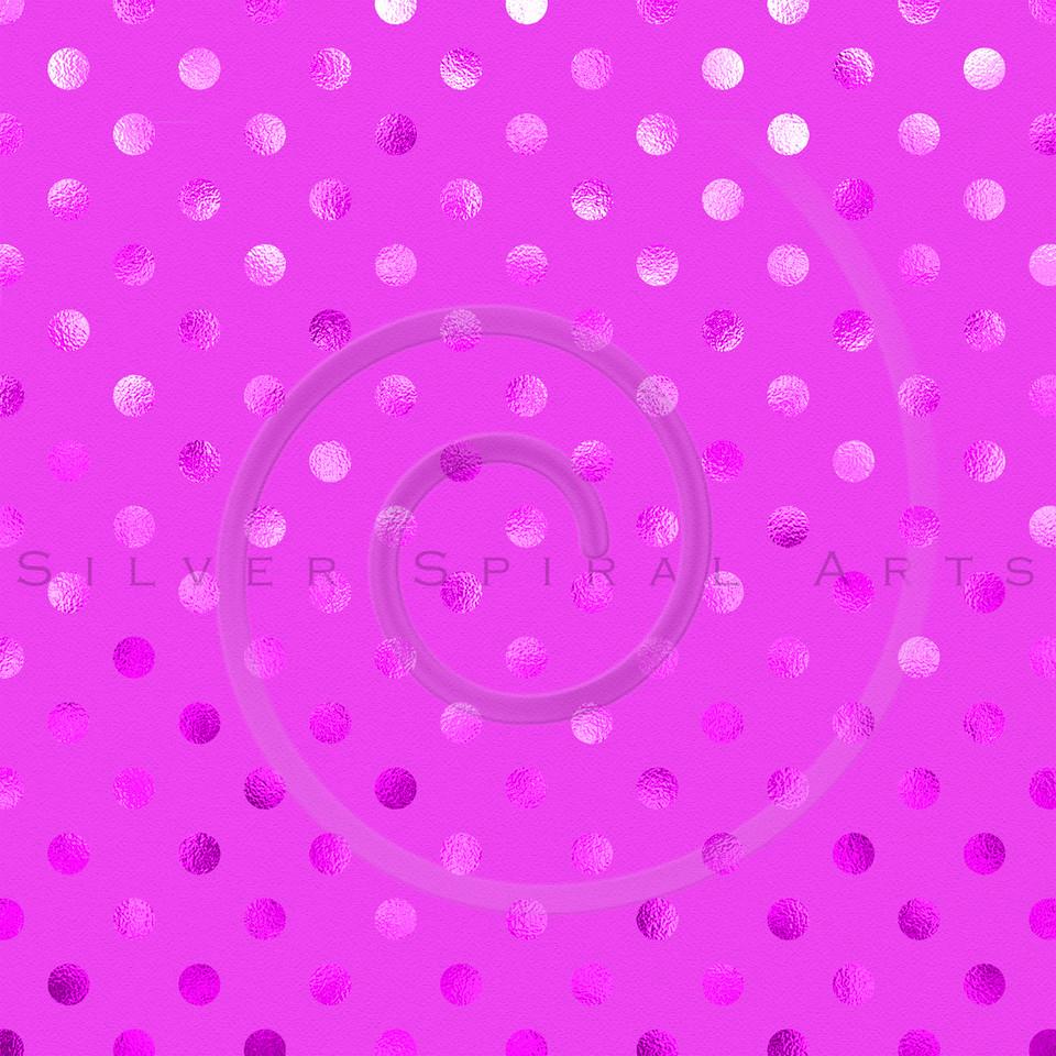Pink Metallic Foil Polka Dot Pattern Swiss Dots Texture Paper Background