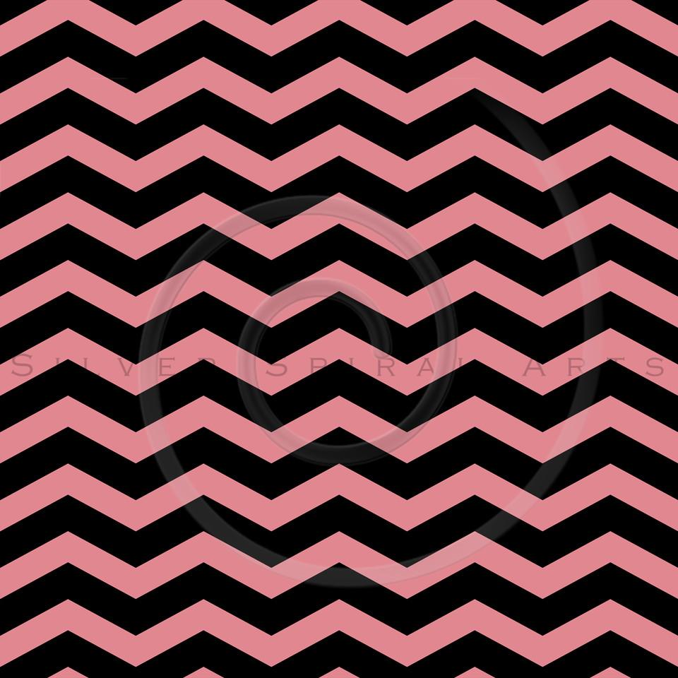 Strawberry Ice Pink Chevron Pattern on Black Chevrons Texture Zig Zag Background