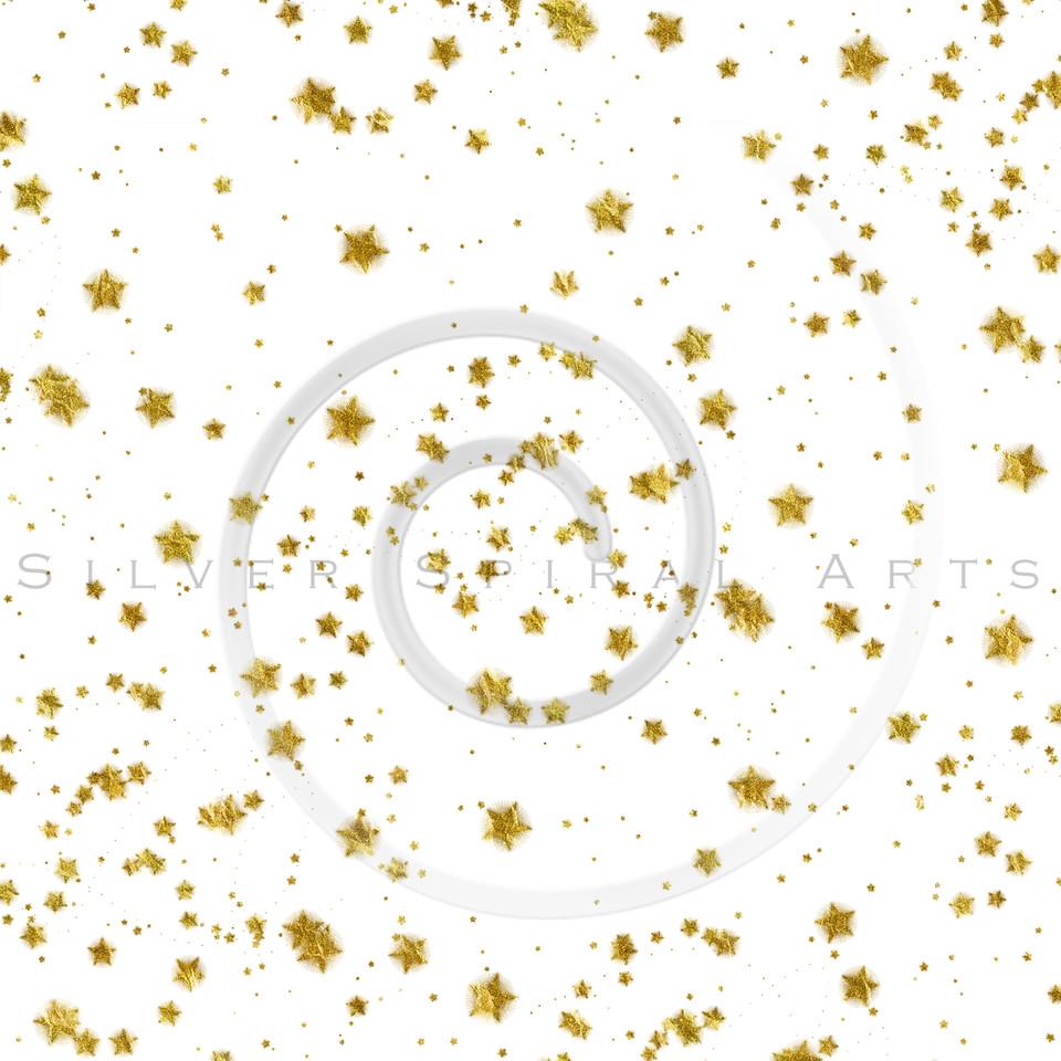 Gold Stars Faux Foil Metallic Background Pattern Texture