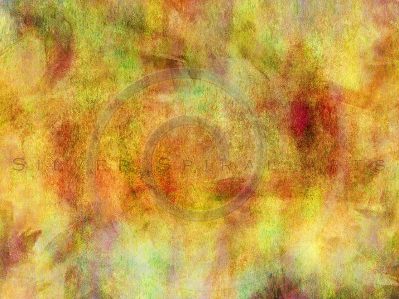 Yellow Orange Green Watercolor Paper Texture Background