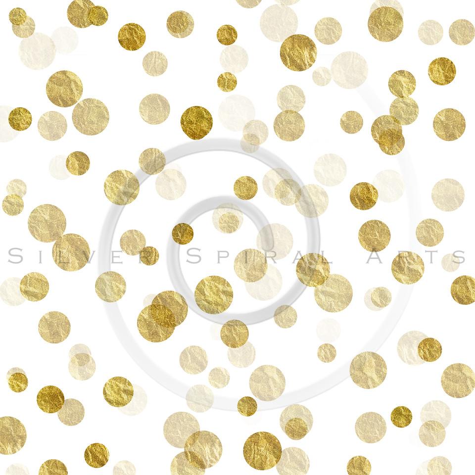 Gold White Dots Faux Foil Metallic Background Pattern Texture