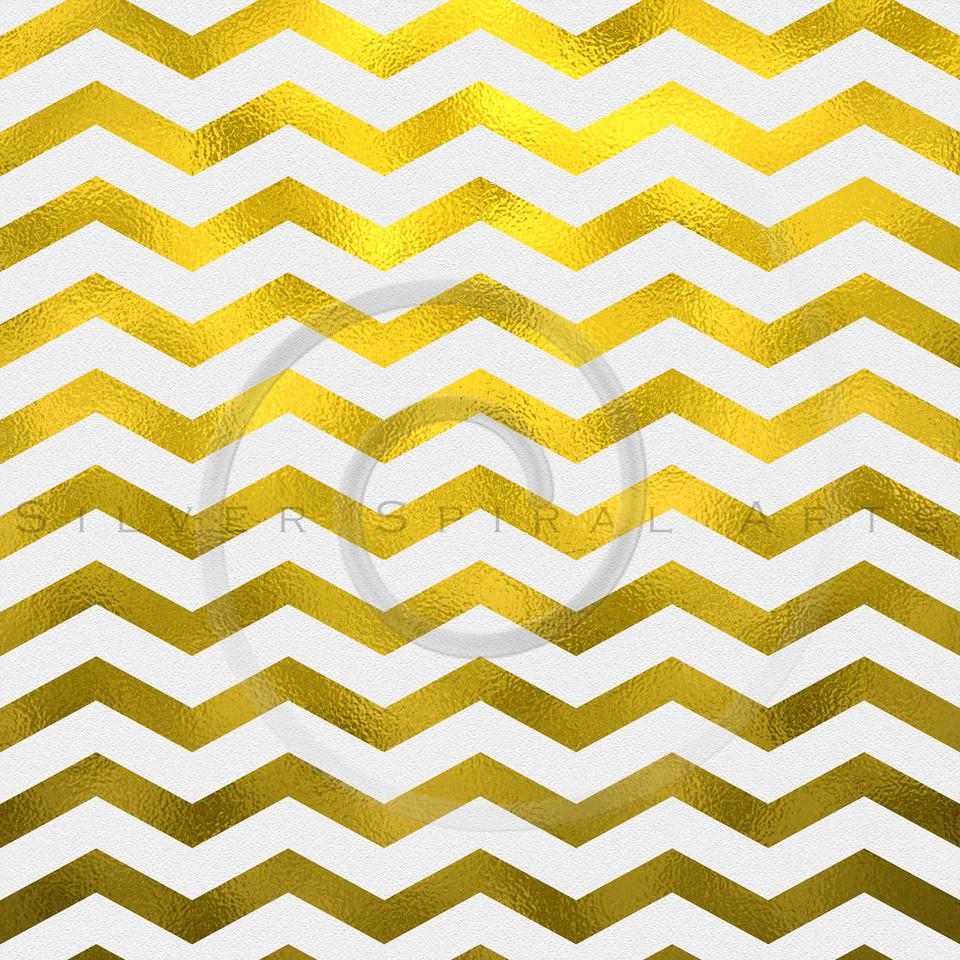 Faux Gold and White Foil Metallic Chevron Pattern Chevrons Texture Zig Zag Background