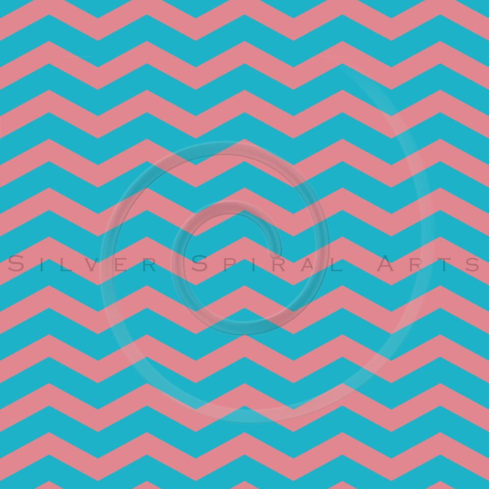 Teal Scuba Blue Strawberry Ice Pink Chevron Pattern Chevrons Texture Zig Zag Background
