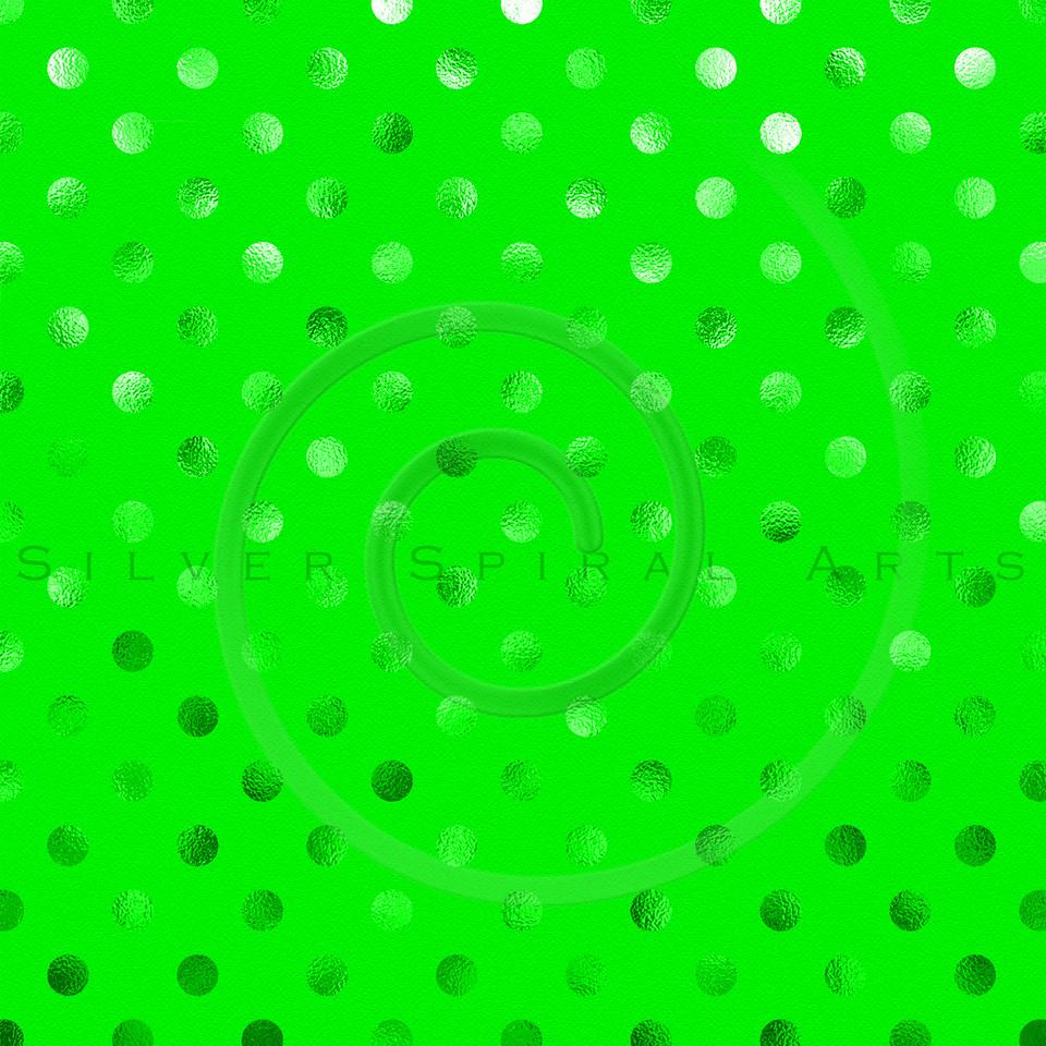 Green Metallic Foil Polka Dot Pattern Swiss Dots Texture Paper Background