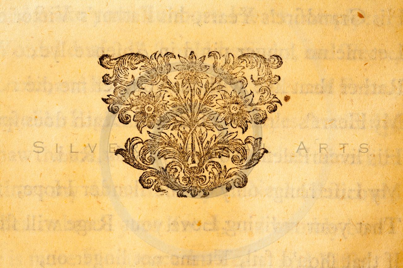Vintage Antique Beige Parchment Paper Background Ornate Design Embellishment