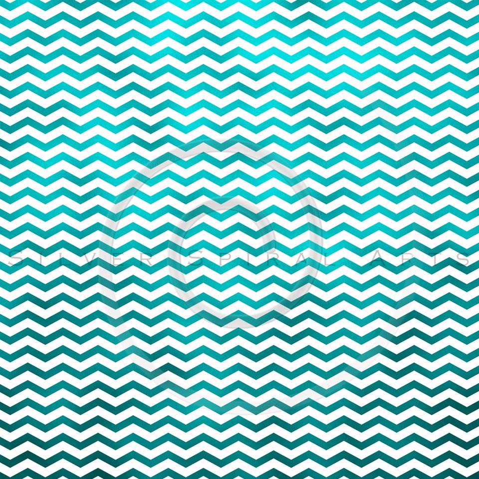 Teal Blue White Metallic Faux Foil Chevron Pattern Chevrons Texture Zig Zag Background