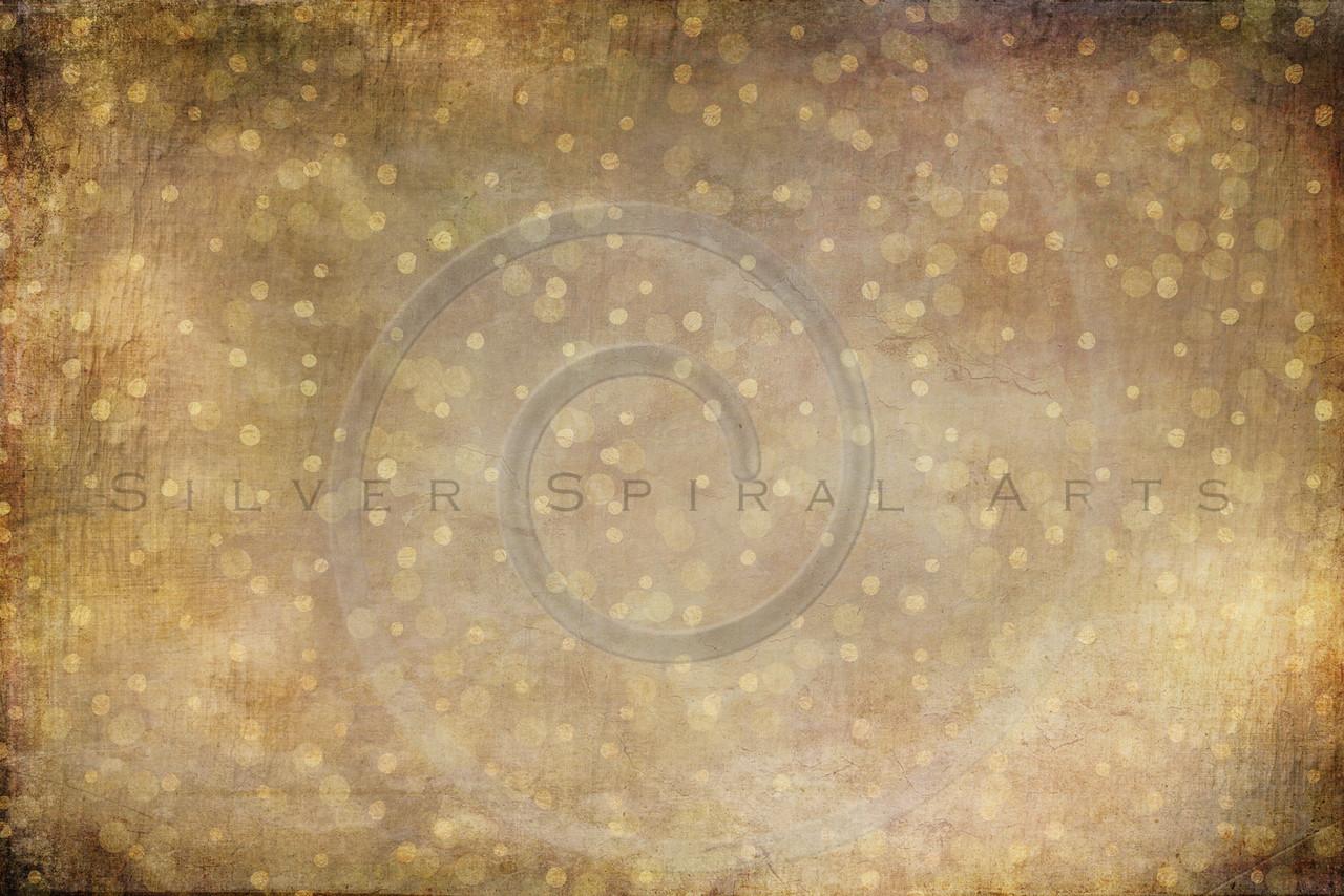 Background Collage of Vintage Paper Gold Faux Foil Paint Polka Dots