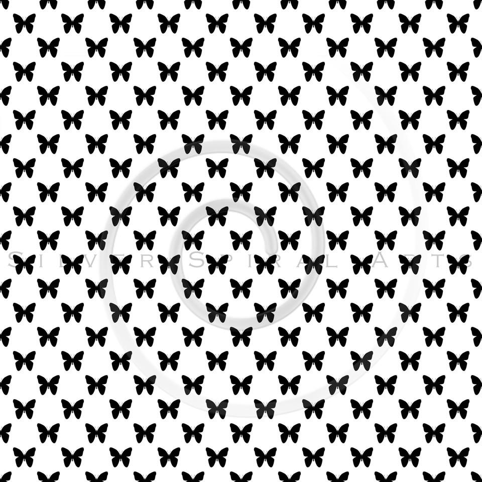 White Black Butterflies Polka Dot Background Pattern Texture