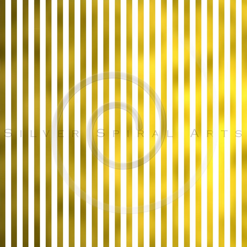 Gold Foil Vertical Metallic Stripes on White Background Striped Texture