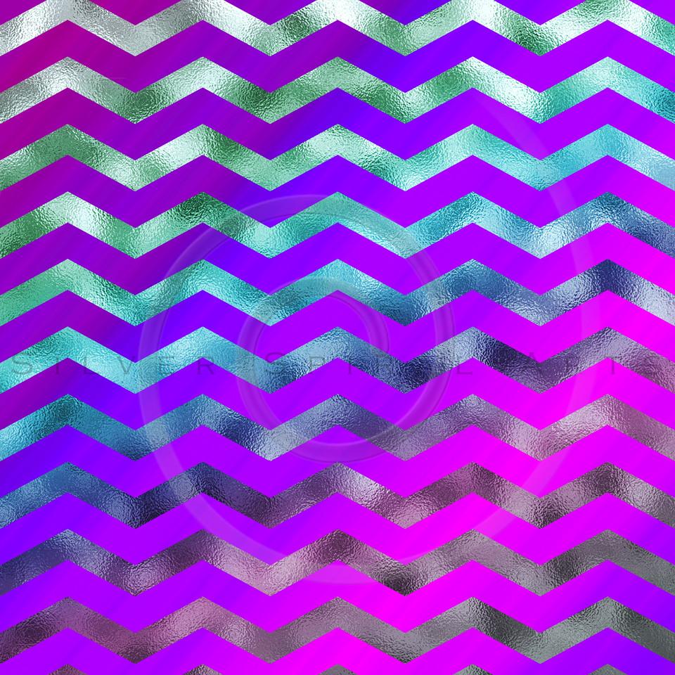 Rainbow Colorful Faux Foil Metallic Chevron Pattern Chevrons Texture Zig Zag Background