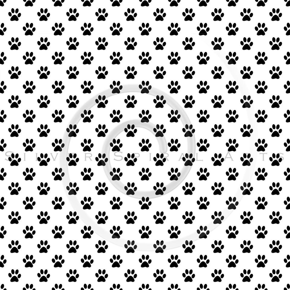 Dog Paws Black White Polka Dot Texture Background Pattern