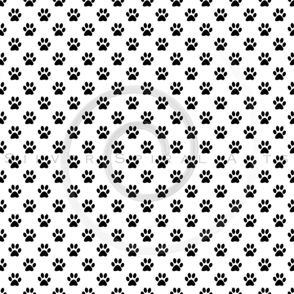 Dog Paws Black White Polka Dot Texture Background Pattern