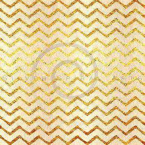 Faux Gold Foil Chevrons Glitter Pattern