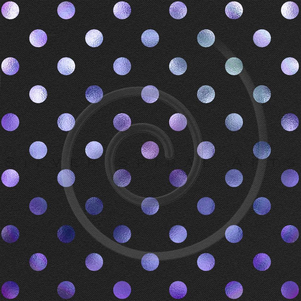 Purple Polka Dot Pattern on Black Swiss Dots Texture Digital Paper
