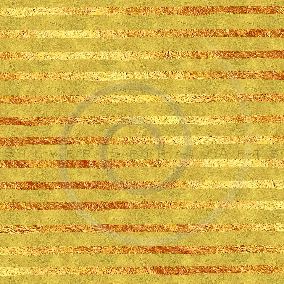 Faux Gold Foil Glitter Stripes Pattern