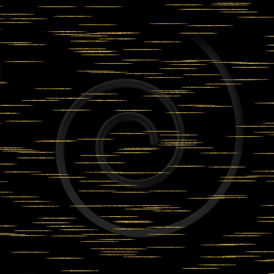Gold Black Lines Faux Foil Metallic Background Pattern Texture