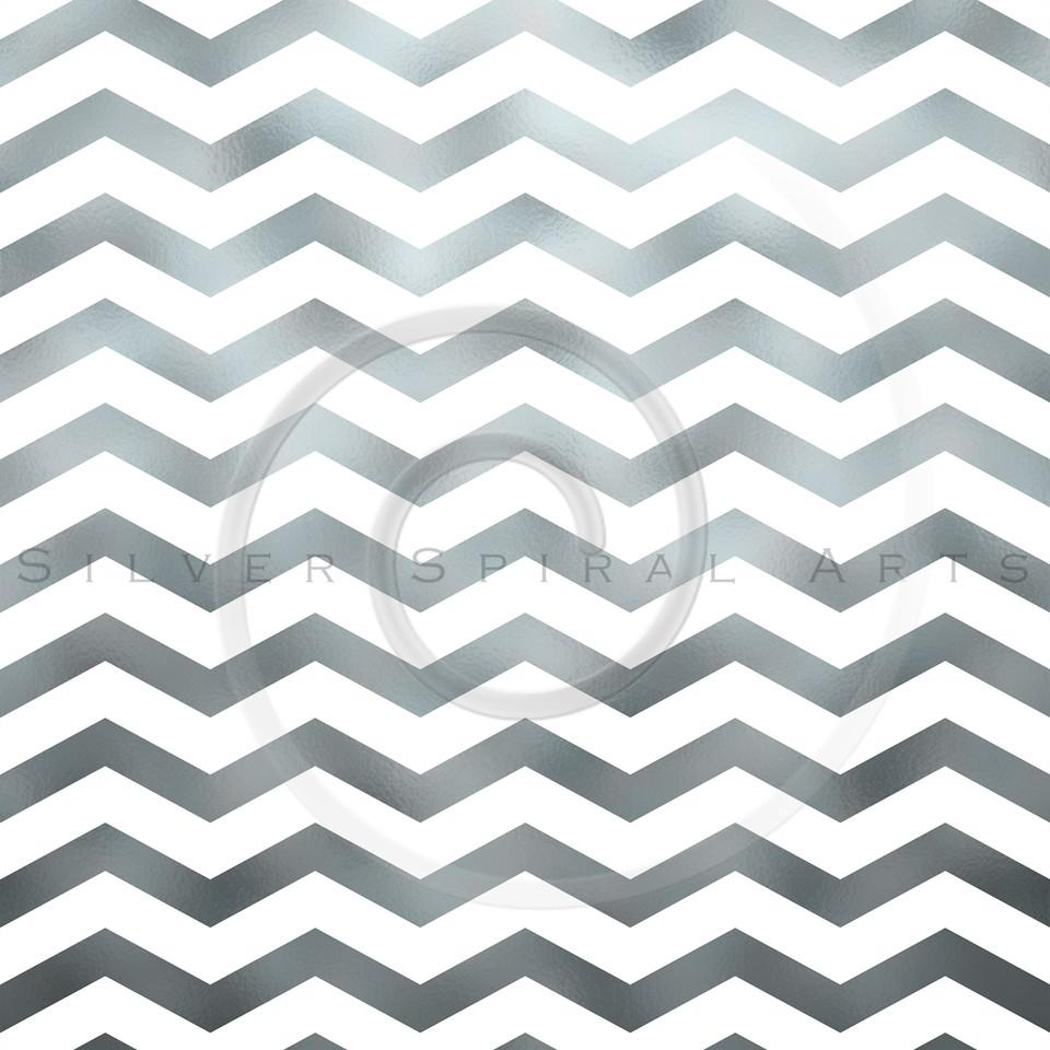 White and Silver Faux Foil Metallic Chevron Pattern Chevrons Texture Zig Zag Background