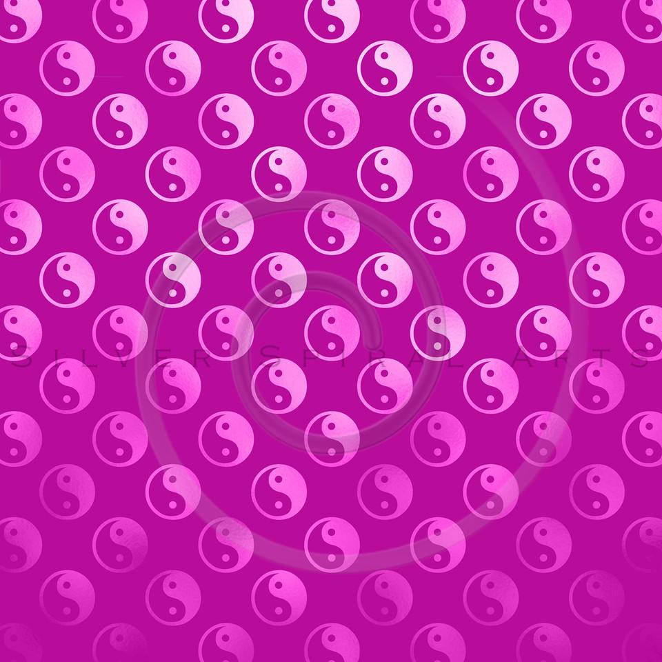 Pink Faux Foil Yin Yang Metallic Tao Balance Chinese Taoism Symbol  Background Texture Pattern