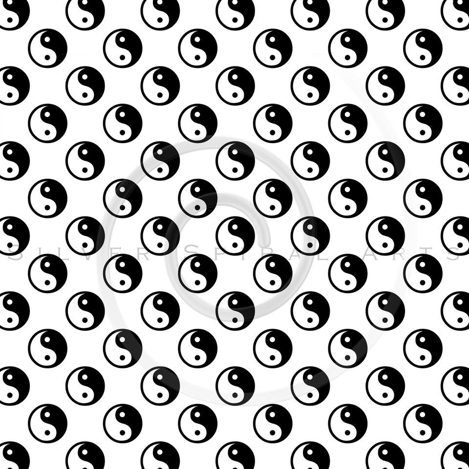 Black White Yin Yang Tao Balance Chinese Taoism Symbol  Background Texture Pattern