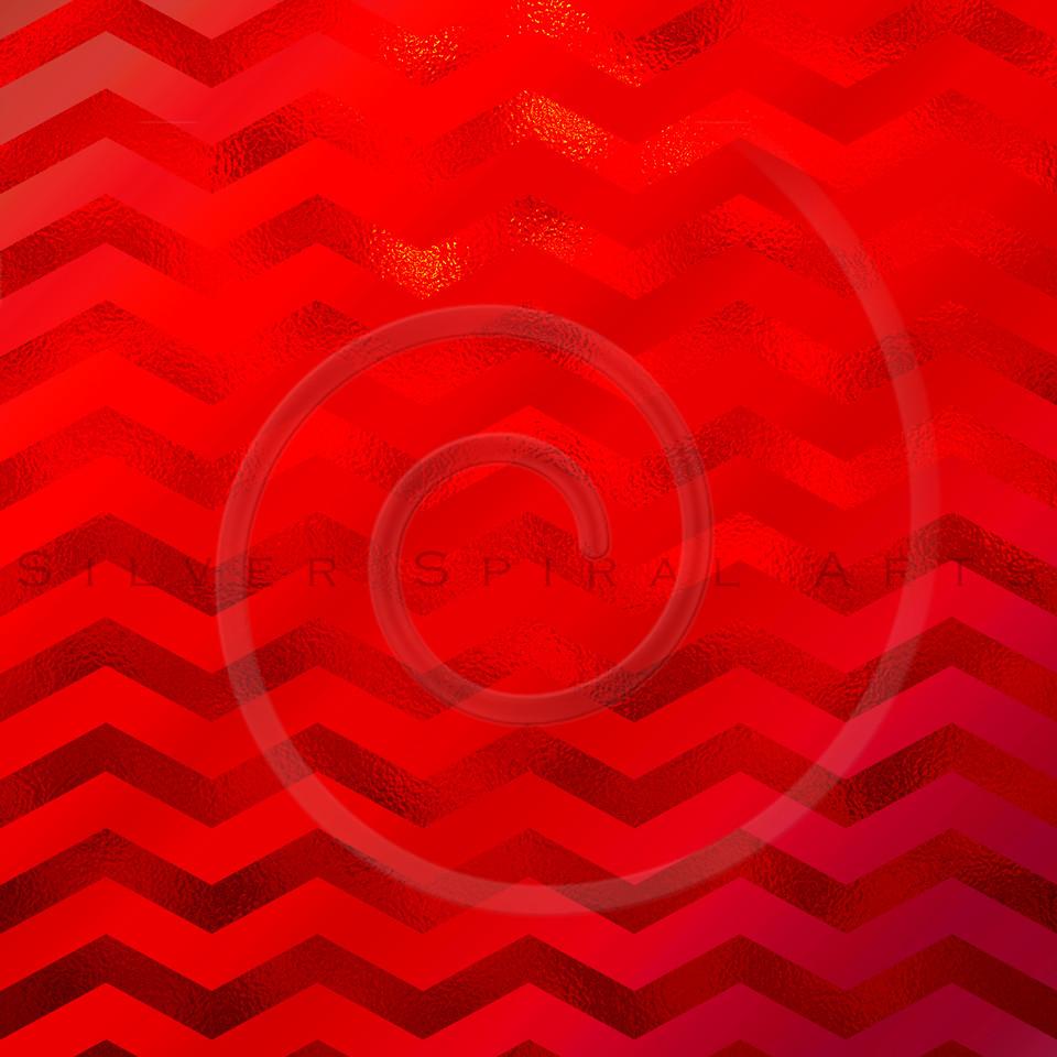 Red Faux Foil Metallic Chevron Pattern Chevrons Texture Zig Zag Background