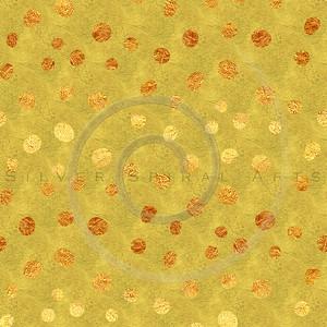 Faux Gold Foil Glitter Polka Dots Pattern