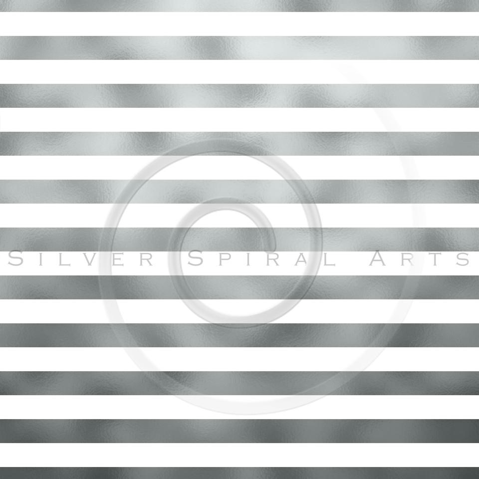 Silver Gray Metallic Grey Foil Horizontal Stripes Background Striped Texture