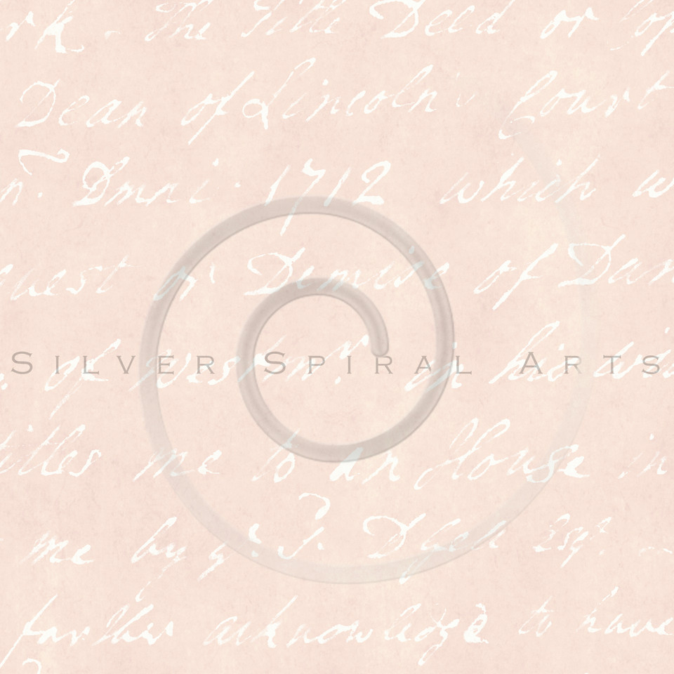 Vintage Peach Parchment 1700s French Script Writing Text Background