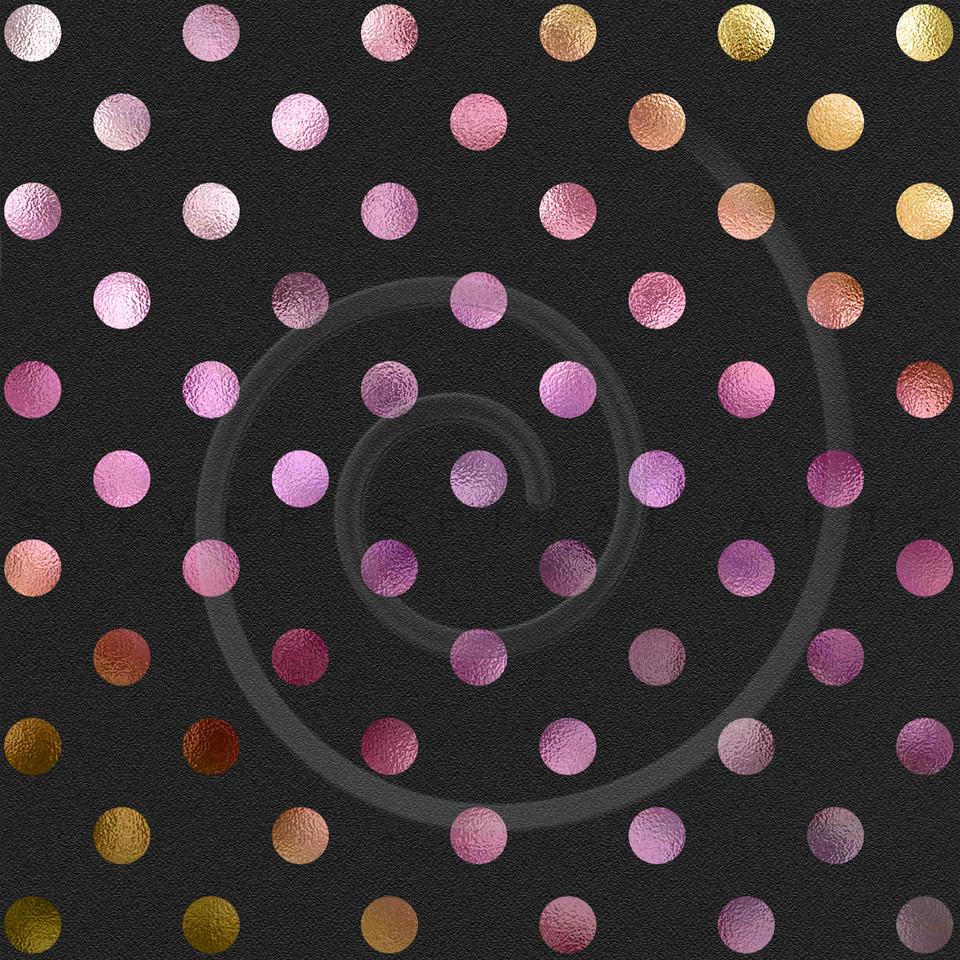 Pink Purple Gold Polka Dot Pattern Swiss Dots Texture Digital Paper