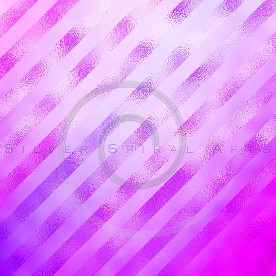 Rainbow Purple Pink Metallic Faux Foil Holographic Stripes Background Striped Texture