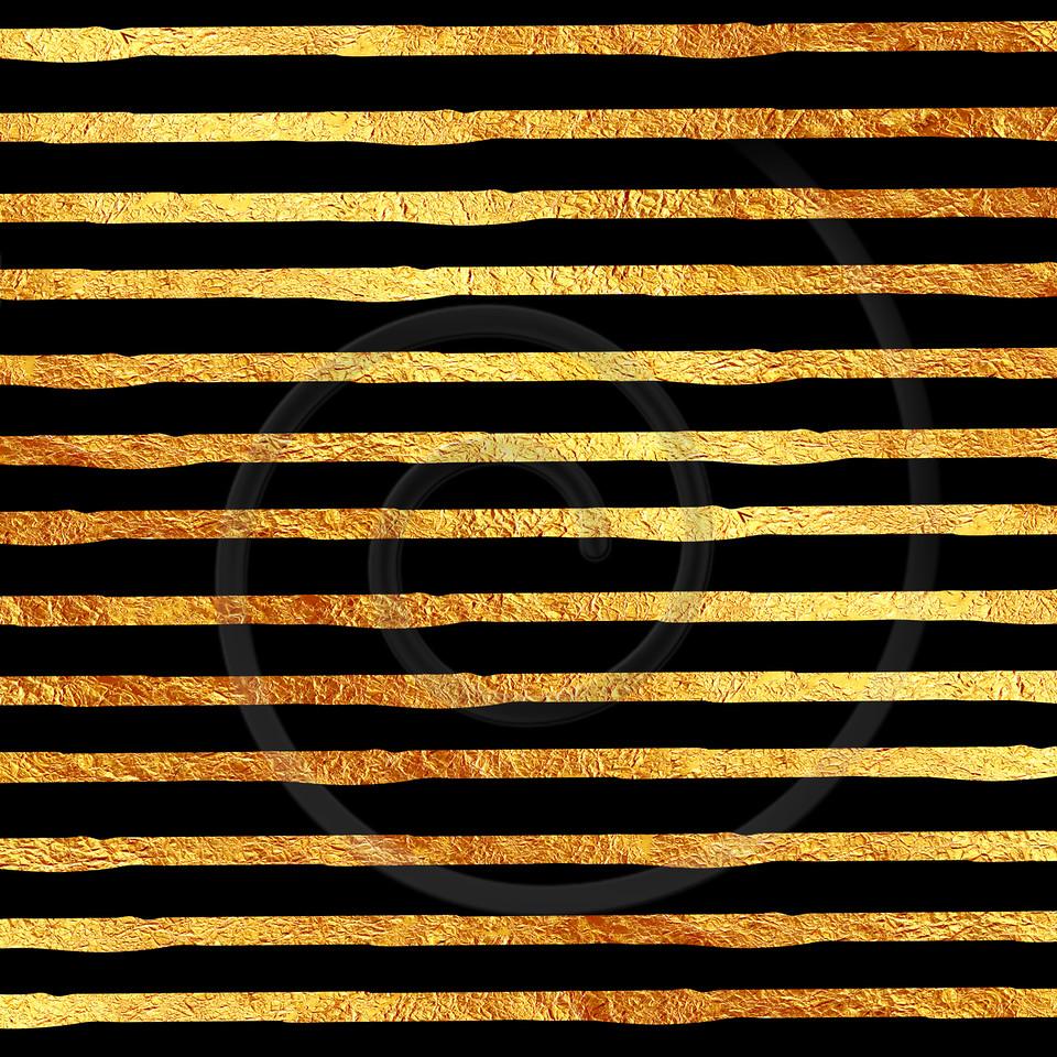 Faux Gold Foil Glitter on Black Pattern
