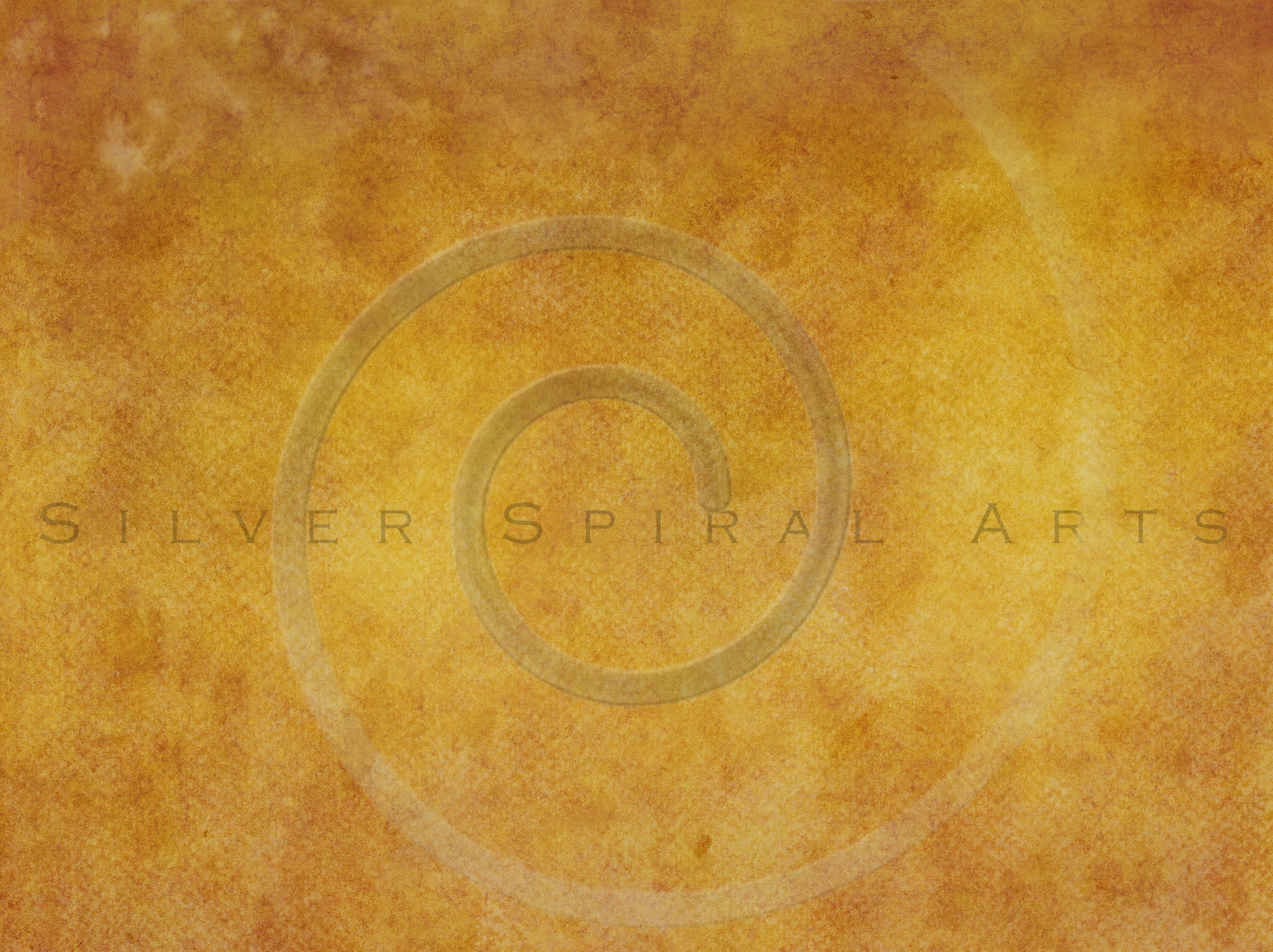 Harvest Gold Orange Yellow Amber Watercolor Paper Texture Background