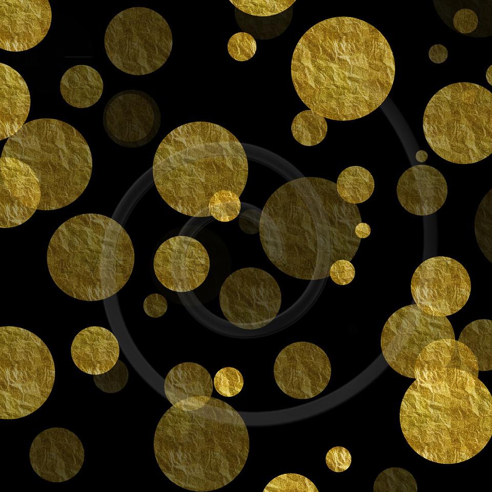 Gold Dots Faux Foil Metallic Background Pattern Texture
