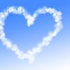 Heart shaped cloud trail