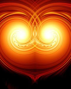 Abstract burning heart