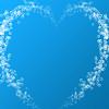 Heart shaped water bubbles
