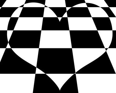 chequered heart