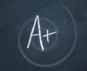 Letter A Chalkboard Background Charcoal Gray Chalk Board