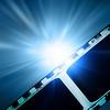 glowing filmstrip