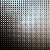 Brushed aluminium metal plate