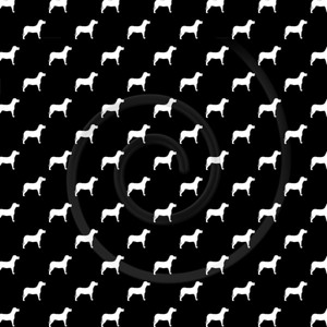 Black White Dogs Pattern Dog Polka Dots Background Texture