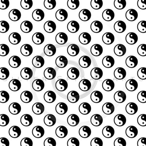 Black White Yin Yang Tao Balance Chinese Taoism Symbol  Background Texture Pattern