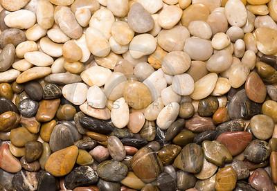 Colorful rocks in wave design.