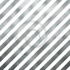 Silver Gray Metallic Grey Foil Diagonal Stripes Background Striped Texture