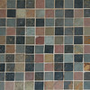 Earthtone, multicolored porcelain tile